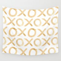 xoxo Wall Tapestries featuring XOXO by The Wellington Boot