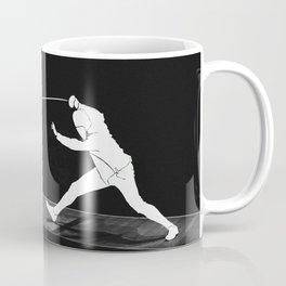 Fencing silhouette Coffee Mug