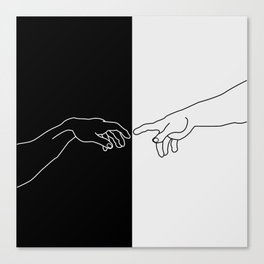 Hands of God and Adam- The creation of Adam Canvas Print