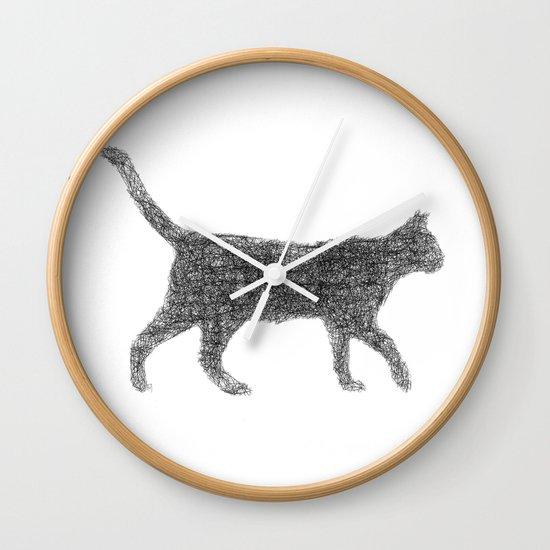 Dust kitten Wall Clock