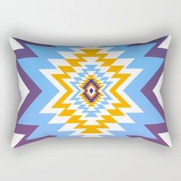 Bright blue native pattern Rectangular Pillow