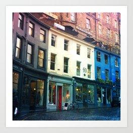 Streets of Edinburgh Art Print
