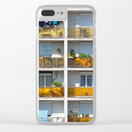 Apartment balcony Clear iPhone Case