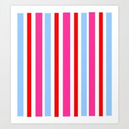 Bright Striped Pattern Art Print