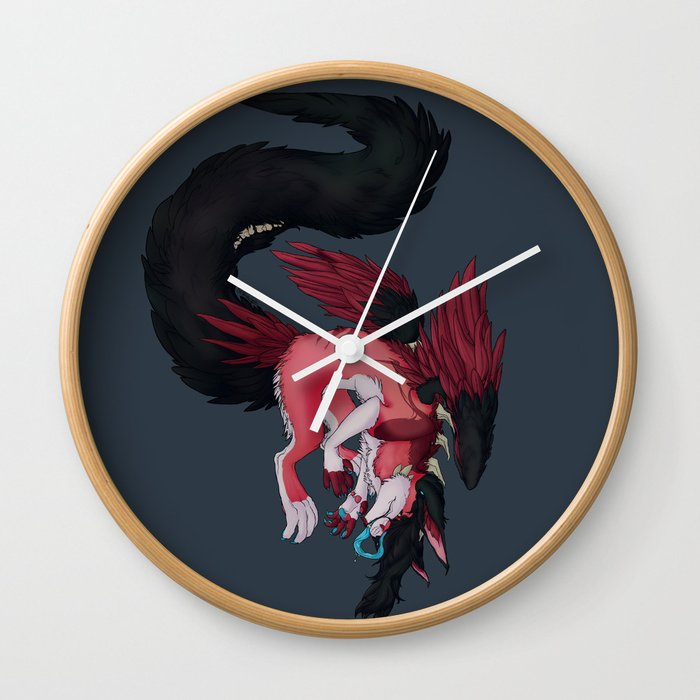 In Love with the Monsters in my Head Wall Clock