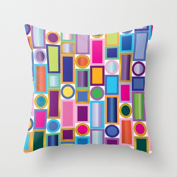 Color Bling Throw Pillow