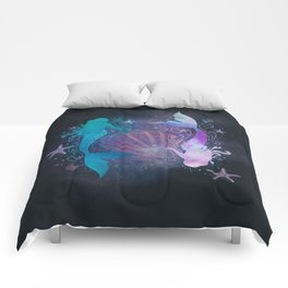 blue & purple mermaid #2 Comforters