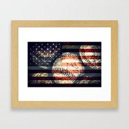 America's game Framed Art Print