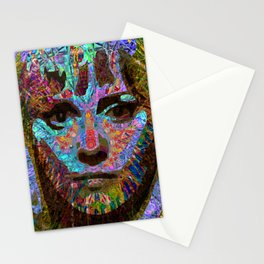 Capable Friend Of The Fifties Film Scream Queen Version One  Stationery Cards
