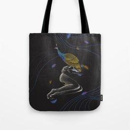 Peacock on Top Tote Bag