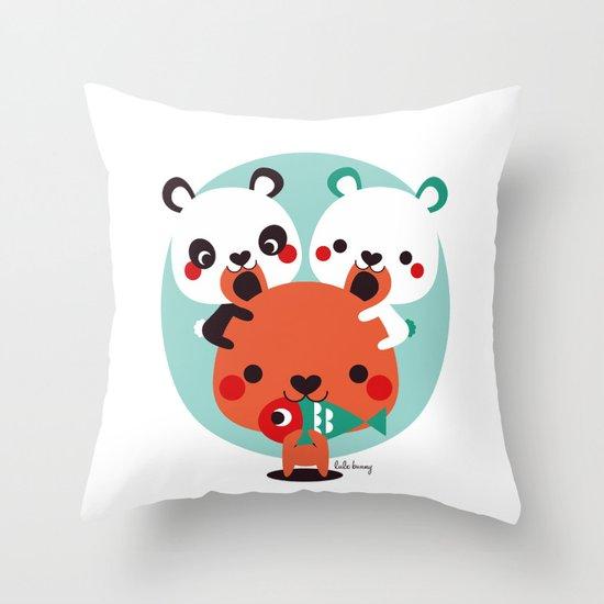 Un montón de osos Throw Pillow