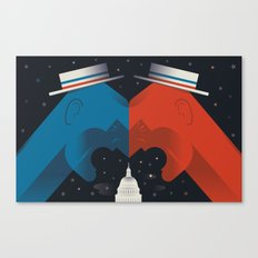 Debate Canvas Print