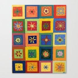 Flower Power - Acrylic Painting Canvas Print