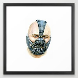 """Bane"" Watercolor Portrait Framed Art Print"