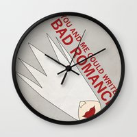 You and Me Could Write a Bad Romance Wall Clock