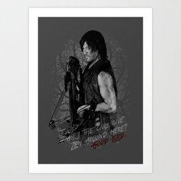 Daryl Dixon from The Walking Dead Art Print