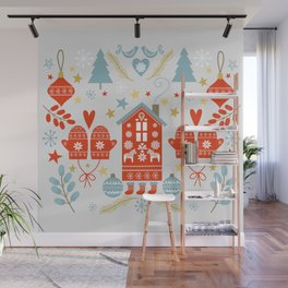 Laplander Winter Holiday Wall Mural