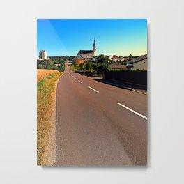 Village road in summertime Metal Print