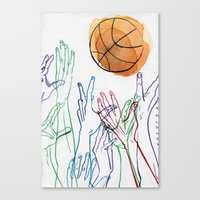 basketball Canvas Prints featuring Basketball by alrightmike