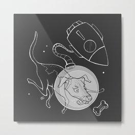 Laika the Soviet Space Dog Metal Print