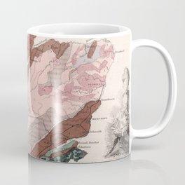 Vintage Geological Map of Scotland (1850) Coffee Mug