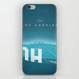 Vintage Los Angeles Travel Poster iPhone Skin