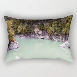george river new zealand blue lake reflection on water Rectangular Pillow