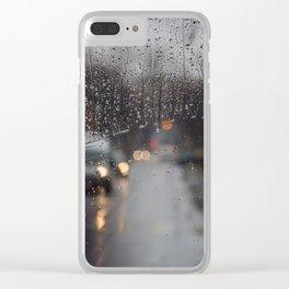 Rainy Bokeh. Clear iPhone Case