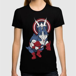 Captain Ameritops - Superhero Dinosaurs Series T-shirt