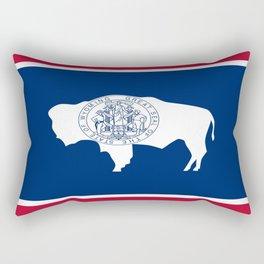 flag wyoming,america,usa,west,moutain, equality,Wyomingite,Cheyenne,Casper,Laramie Rectangular Pillow