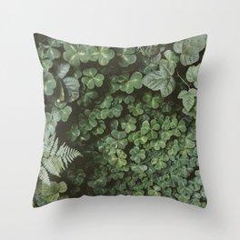 Wood Sorrel Throw Pillow