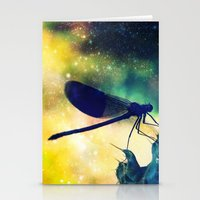 dragonfly Stationery Cards featuring Dragonfly by Luiza Lazar