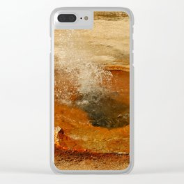 A Thermal Bubbel Hole Clear iPhone Case