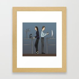 FitzSimmons in the Lab Framed Art Print