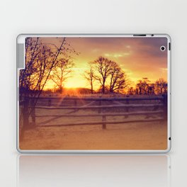 February winter morning Laptop & iPad Skin