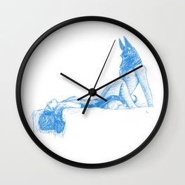 asc 740 - Le voyageur de la Nuit (The night visitor) - sketch version Wall Clock