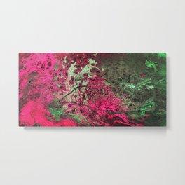 Pink & Green Flow Metal Print