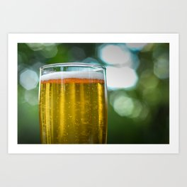 South African Beer In A Glass Art Print