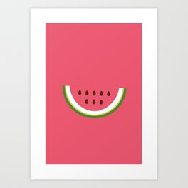 red watermelon Art Print