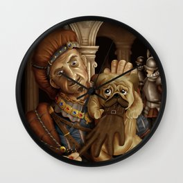 naughty dog Wall Clock