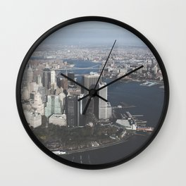 NYC Downtown Aerial Wall Clock