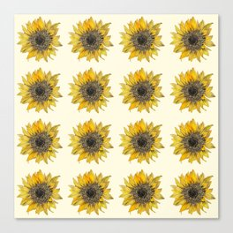 Sunflower Print Canvas Print