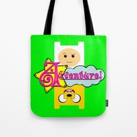 adventure Tote Bags featuring Adventure! by Silvio Ledbetter