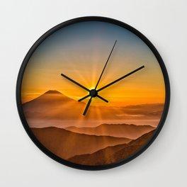 Mt Fuji II Wall Clock