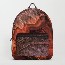 Copper Brown Agate Mineral Gemstone Geode Backpack