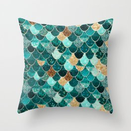 REALLY MERMAID Throw Pillow