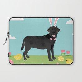 Black Lab labrador retriever dog breed pet art easter portrait costume spring Laptop Sleeve