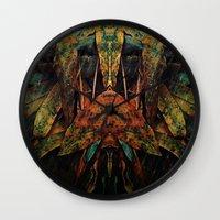 moth Wall Clocks featuring moth by AmeliaPeelArt