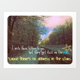 Address In The Stars Art Print