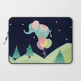 Elephant with Balloons, nursery decor , Laptop Sleeve